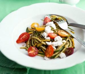 Salat mit Rucola und Mozarella