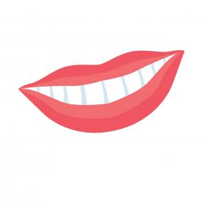 lächeln mit gesunden zähnen