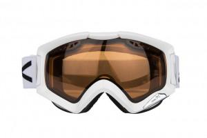 Ski Brille in weiß